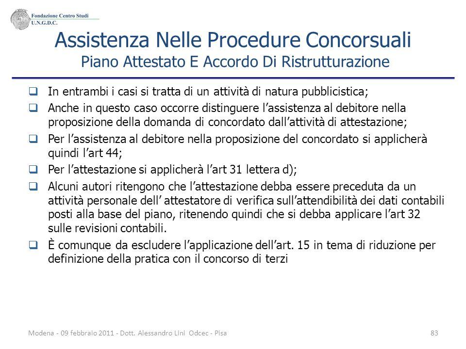 Assistenza Nelle Procedure Concorsuali Piano Attestato E Accordo Di Ristrutturazione