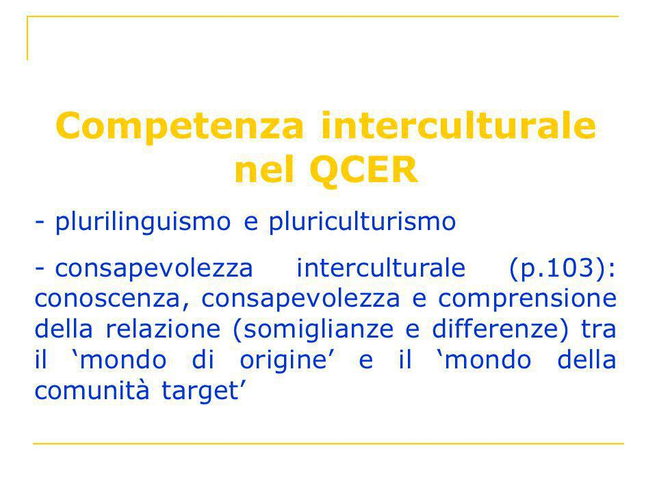 Competenza interculturale nel QCER