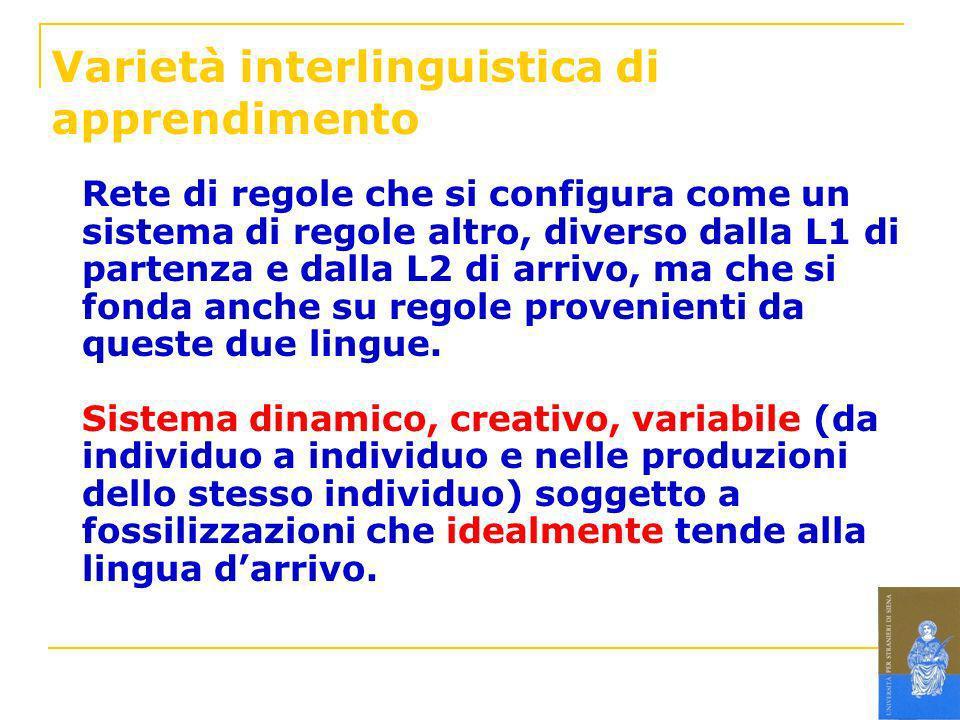 Varietà interlinguistica di apprendimento