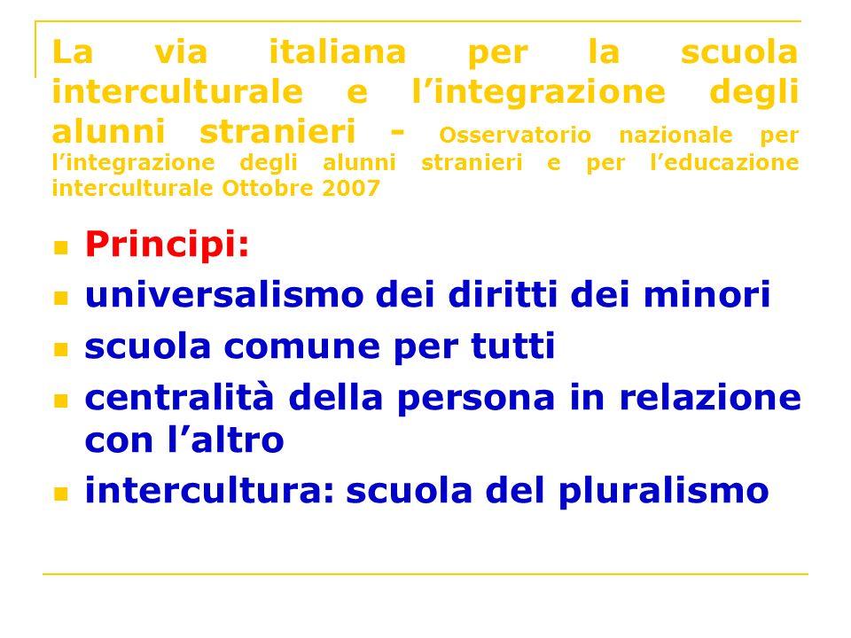 universalismo dei diritti dei minori scuola comune per tutti
