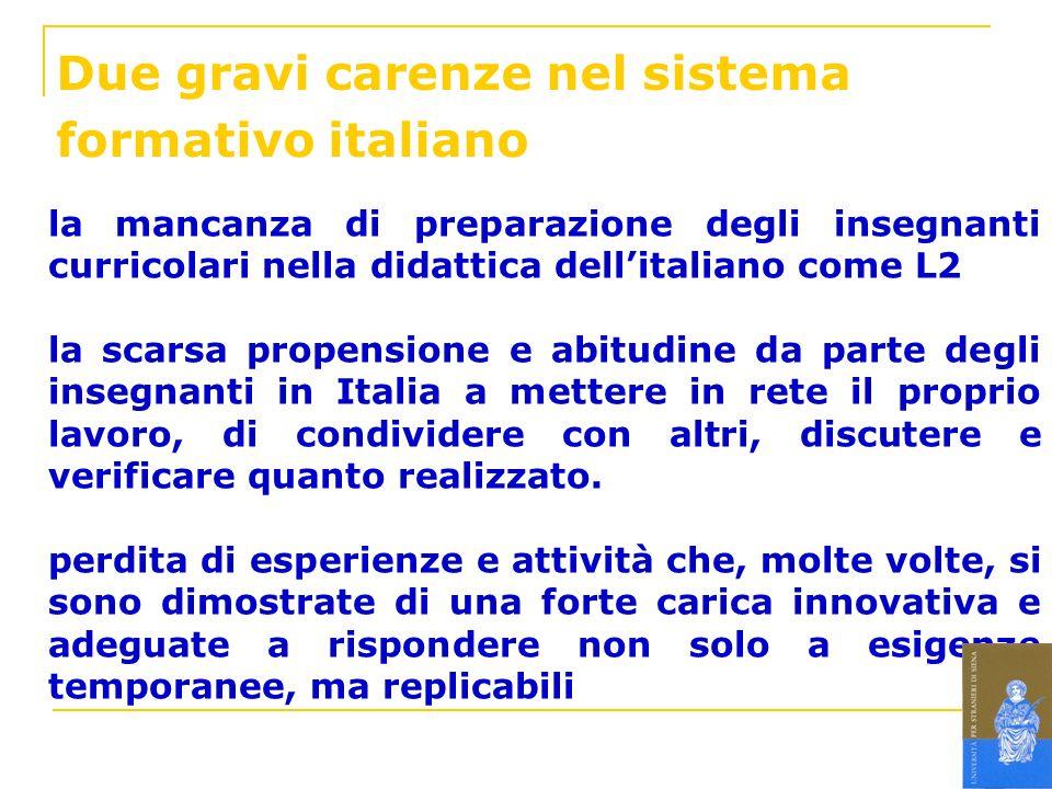 Due gravi carenze nel sistema formativo italiano
