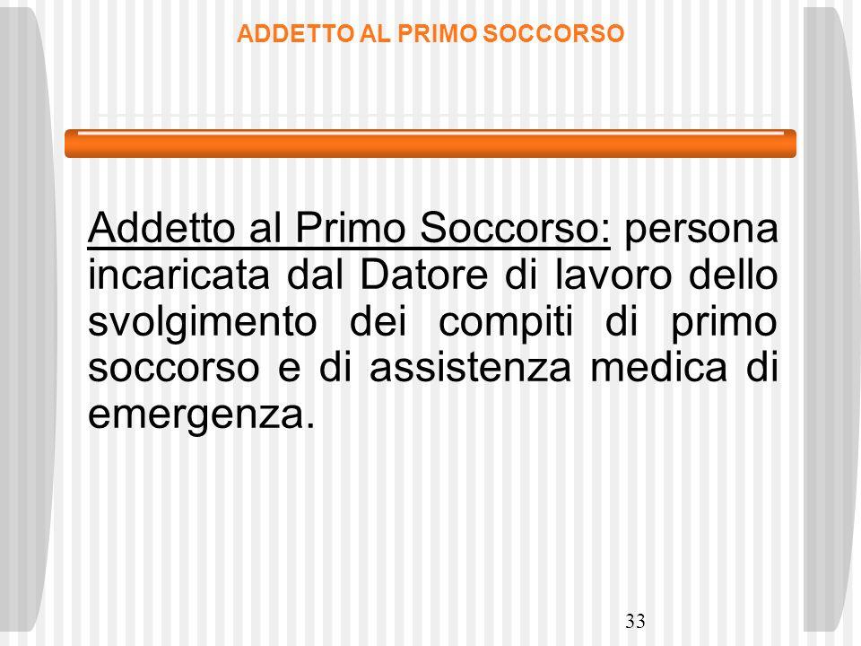 ADDETTO AL PRIMO SOCCORSO