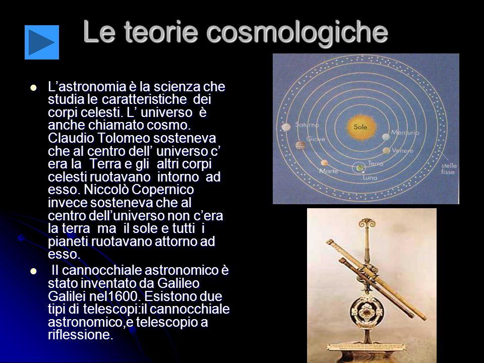 Le teorie cosmologiche