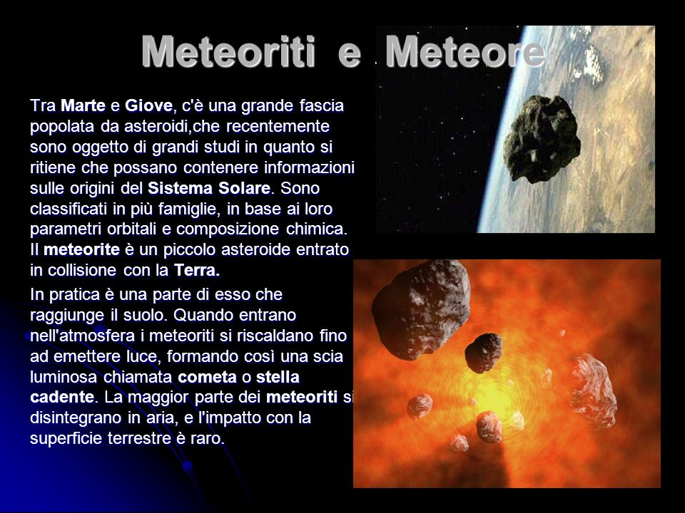 Meteoriti e Meteore