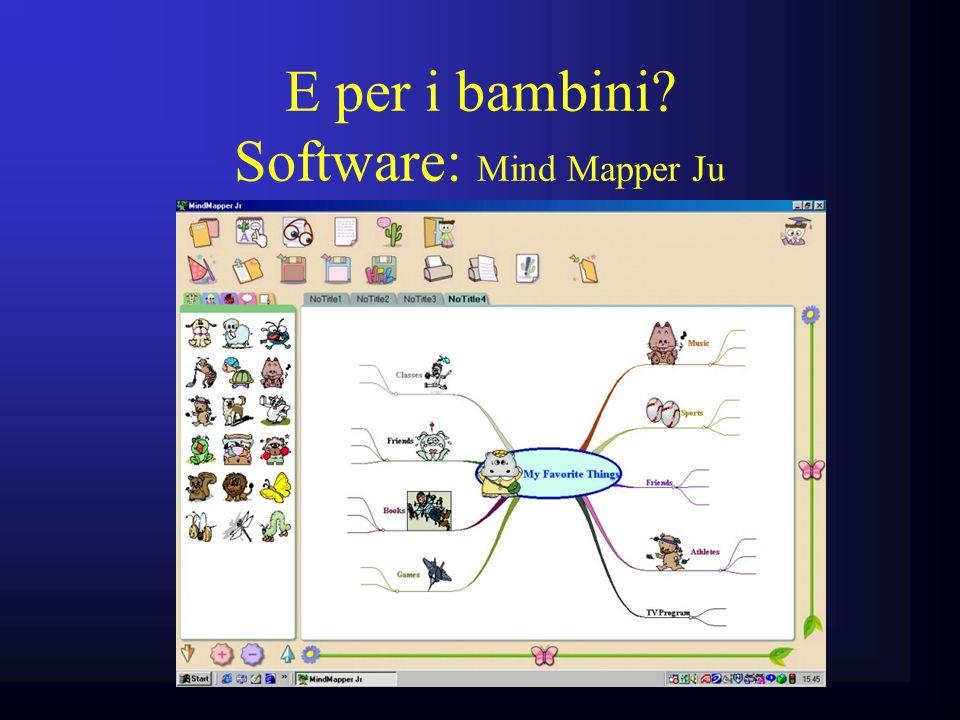 E per i bambini Software: Mind Mapper Ju
