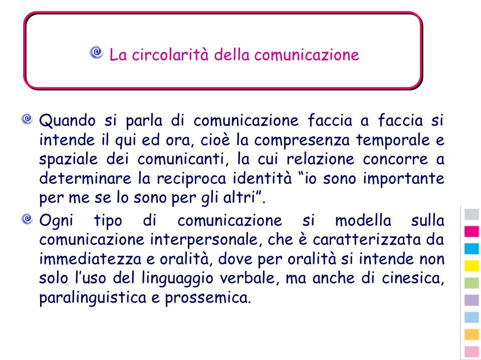 La circolarità della comunicazione