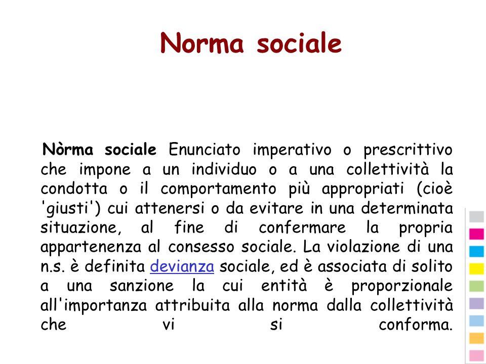 Norma sociale