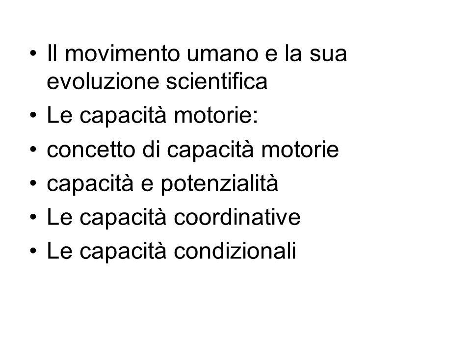 Il movimento umano e la sua evoluzione scientifica