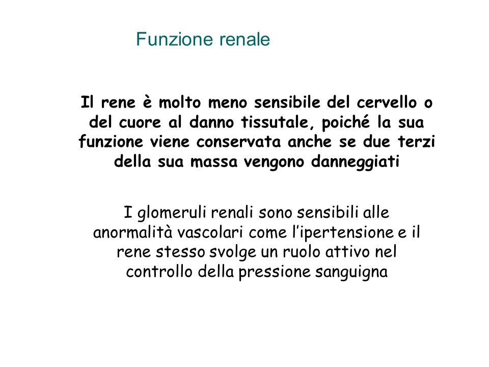 Funzione renale