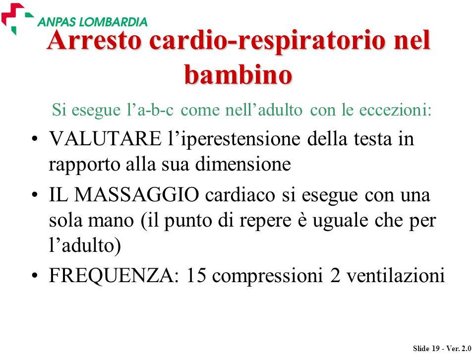 Arresto cardio-respiratorio nel bambino