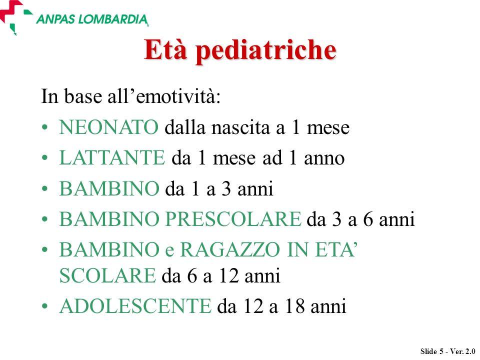 Età pediatriche In base all'emotività: NEONATO dalla nascita a 1 mese