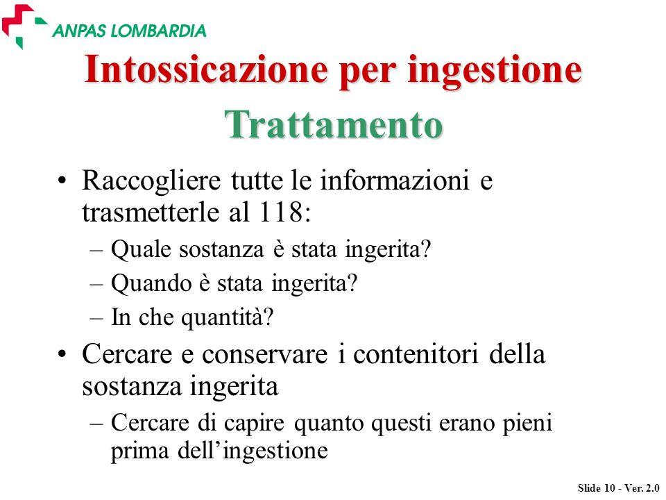 Intossicazione per ingestione