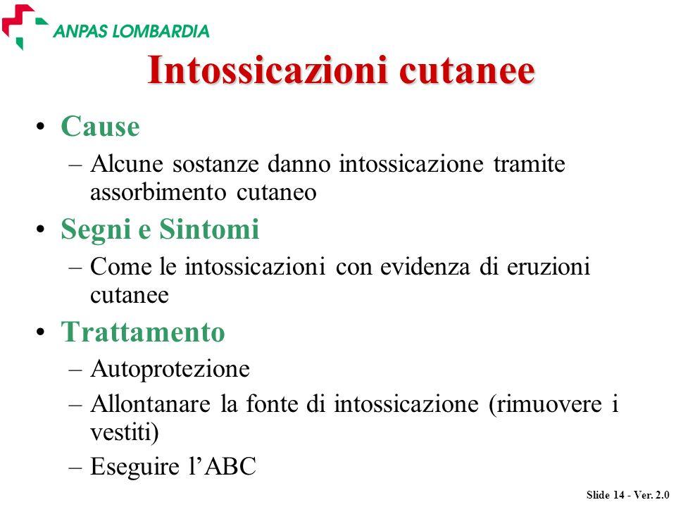 Intossicazioni cutanee