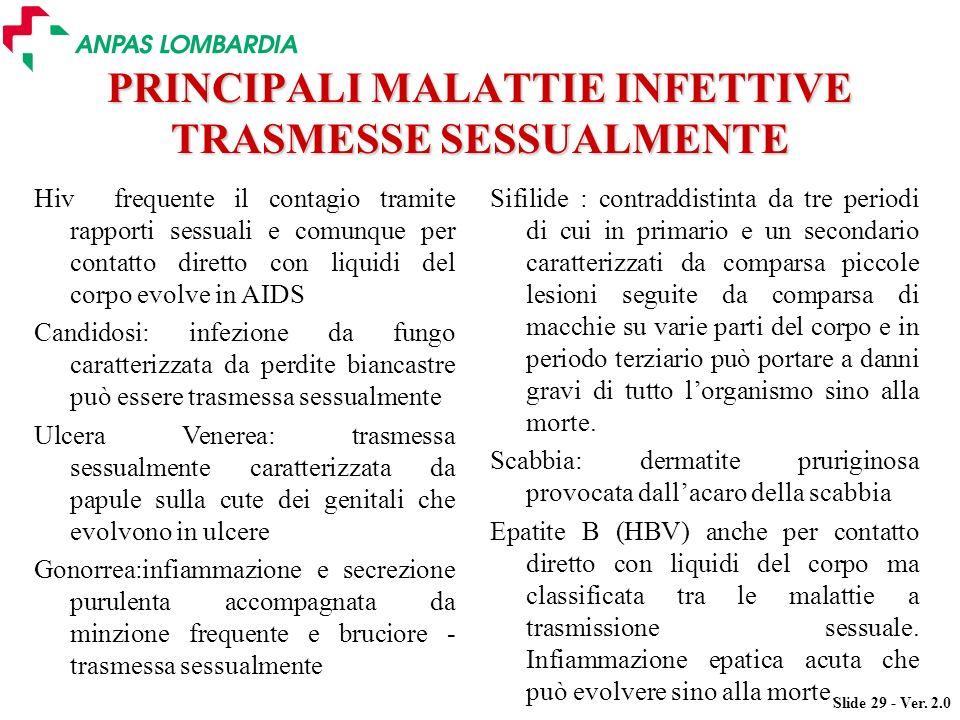 PRINCIPALI MALATTIE INFETTIVE TRASMESSE SESSUALMENTE