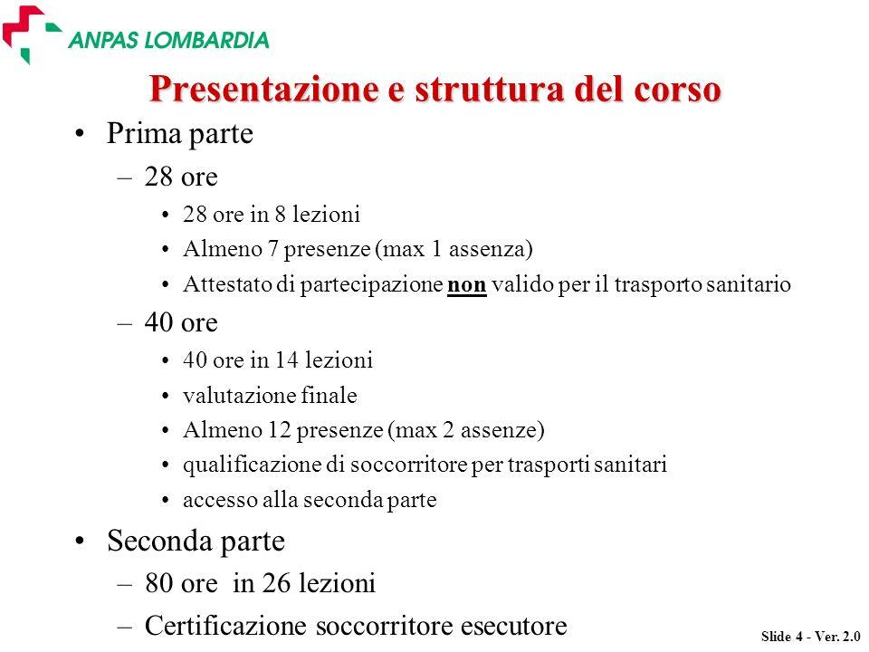 Presentazione e struttura del corso