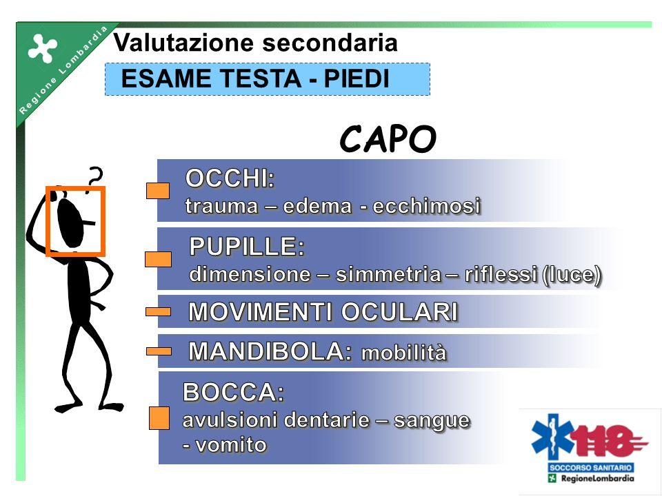 CAPO Valutazione secondaria ESAME TESTA - PIEDI