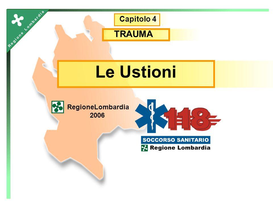 Capitolo 4 TRAUMA Le Ustioni RegioneLombardia 2006