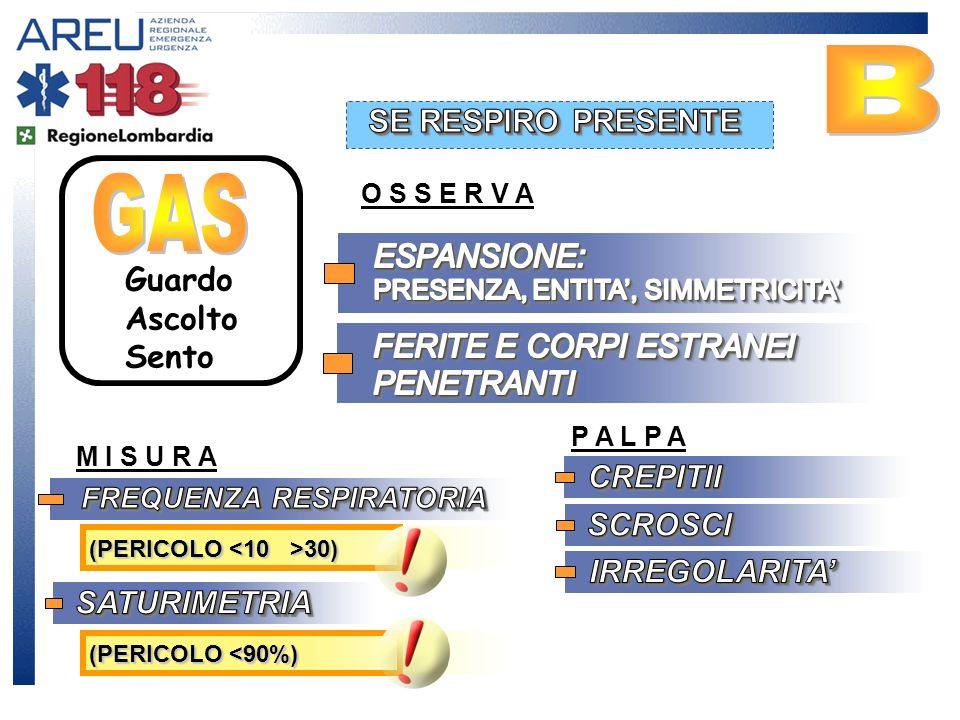 B GAS SE RESPIRO PRESENTE ESPANSIONE: PRESENZA, ENTITA', SIMMETRICITA'