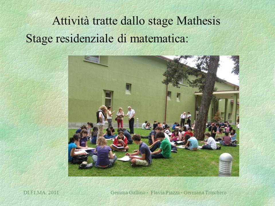 Attività tratte dallo stage Mathesis