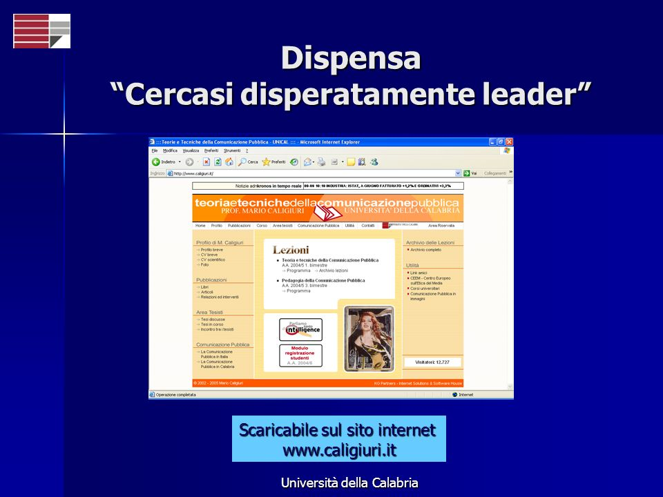 Dispensa Cercasi disperatamente leader