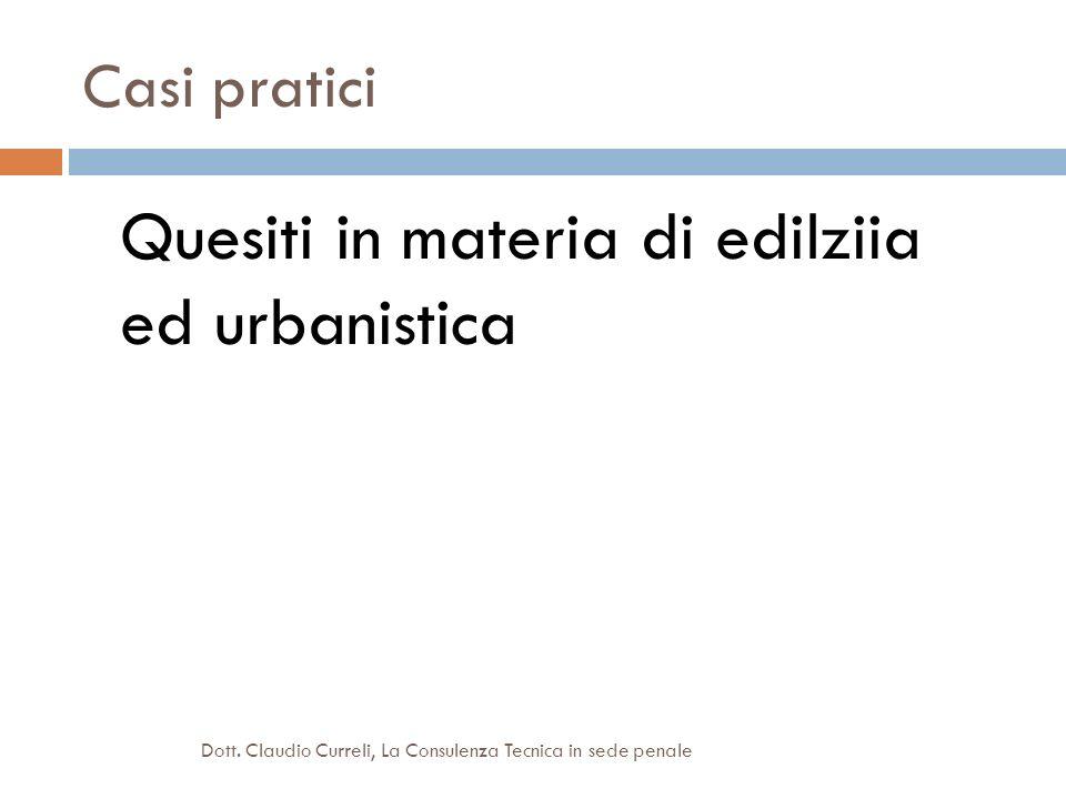 Quesiti in materia di edilziia ed urbanistica