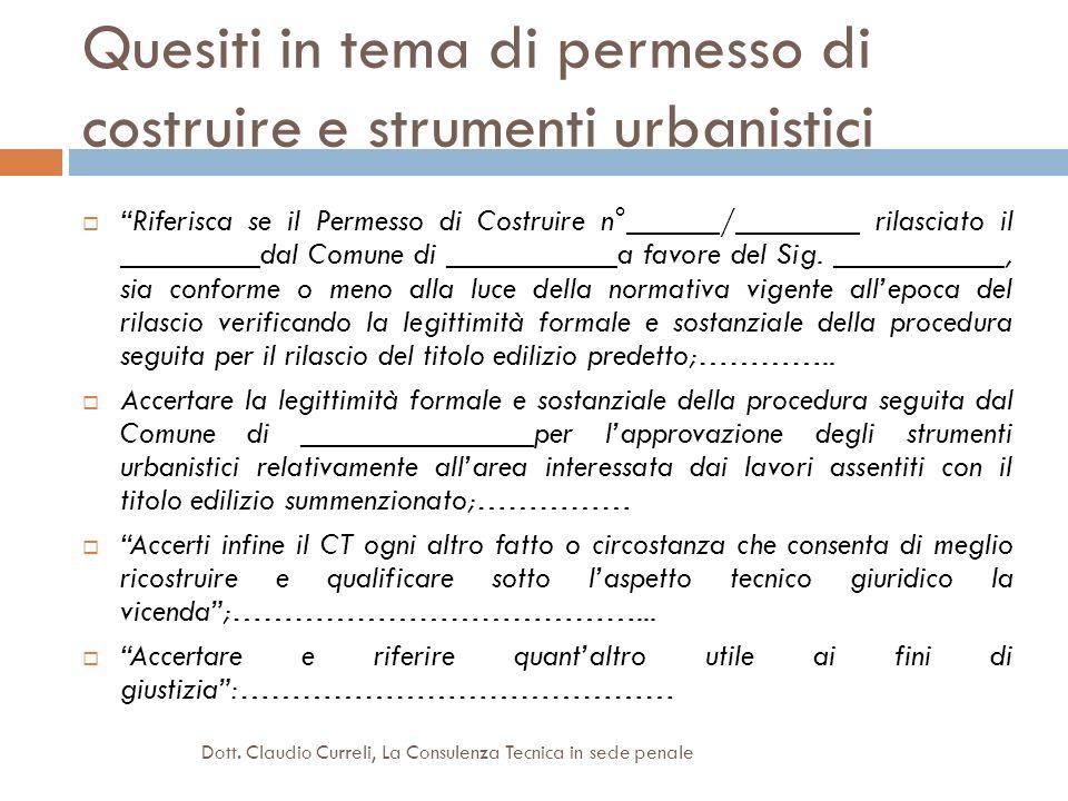Quesiti in tema di permesso di costruire e strumenti urbanistici