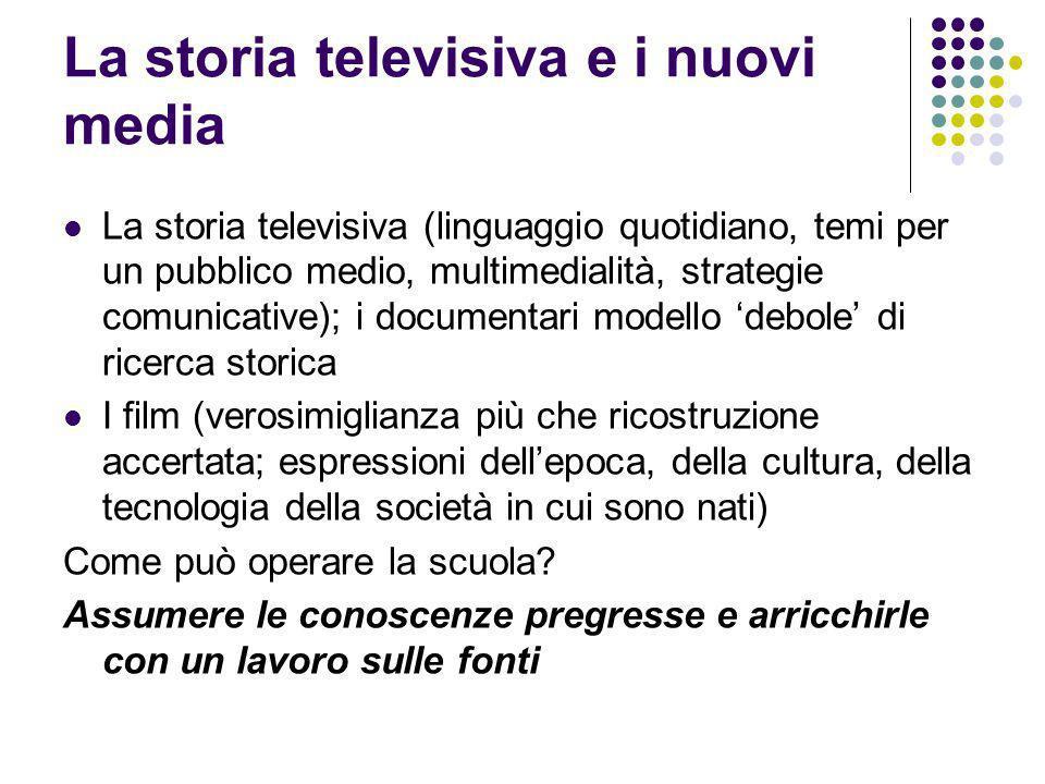 La storia televisiva e i nuovi media