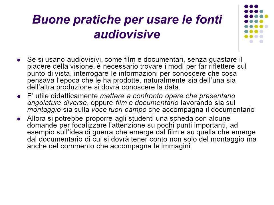 Buone pratiche per usare le fonti audiovisive