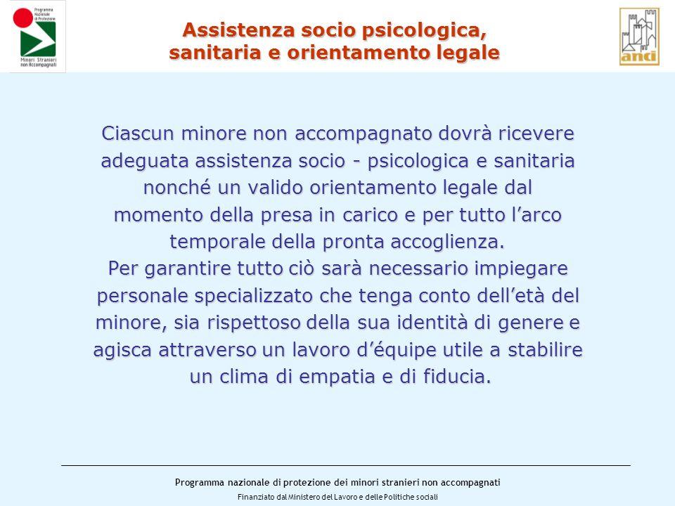 Assistenza socio psicologica, sanitaria e orientamento legale