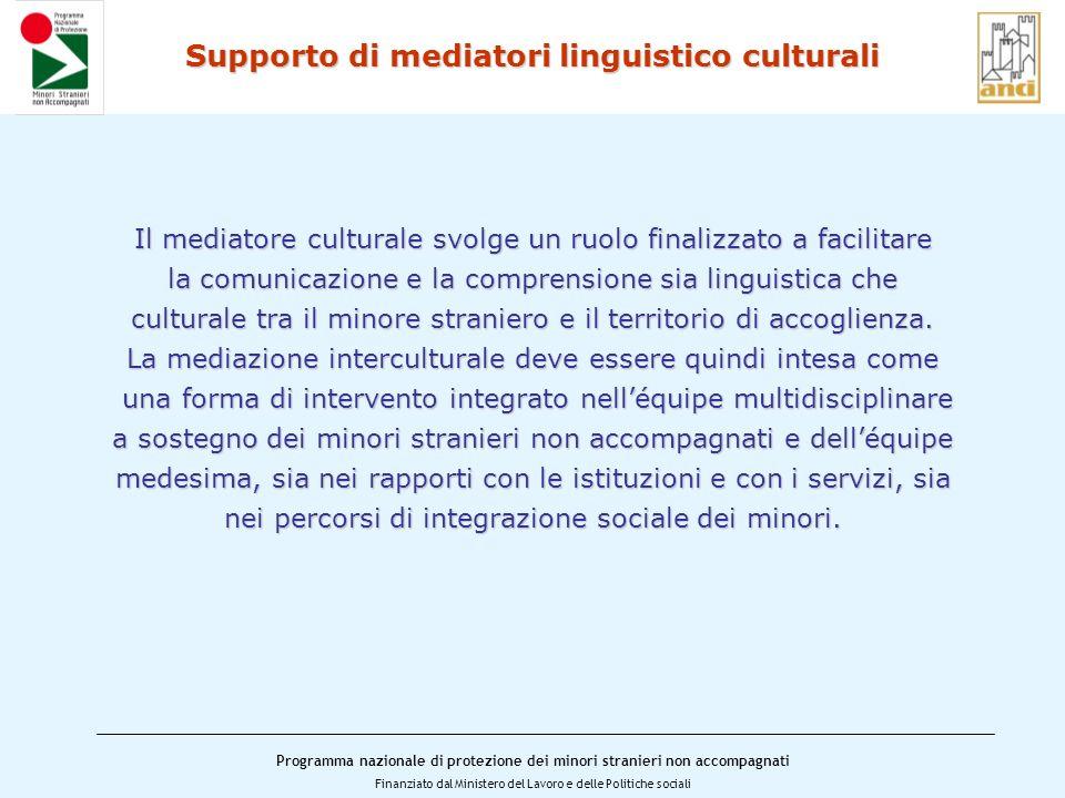Supporto di mediatori linguistico culturali
