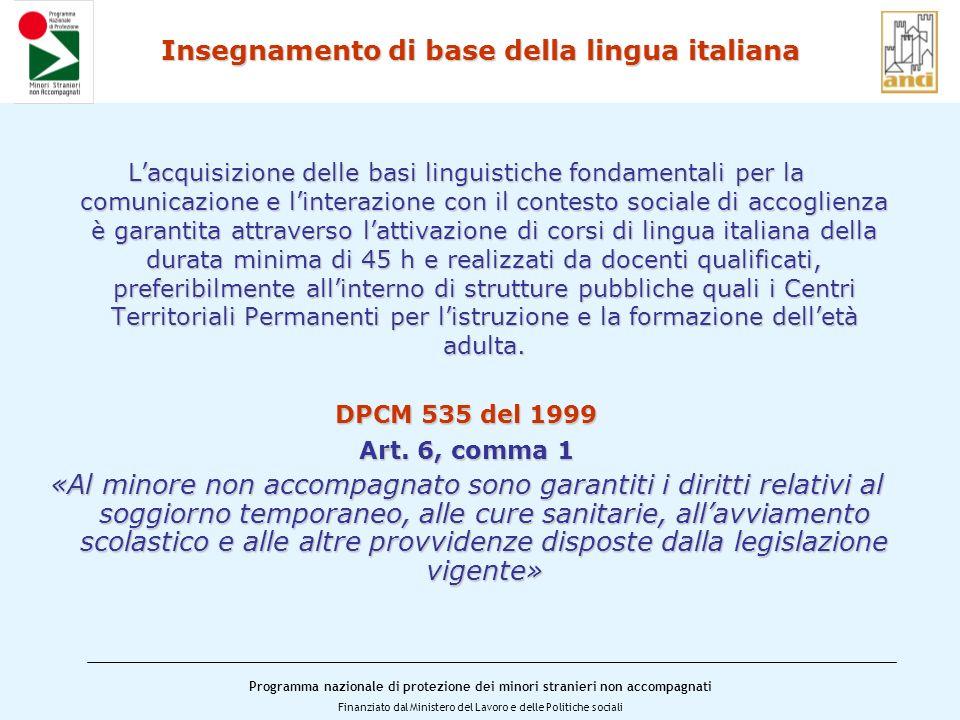 Insegnamento di base della lingua italiana