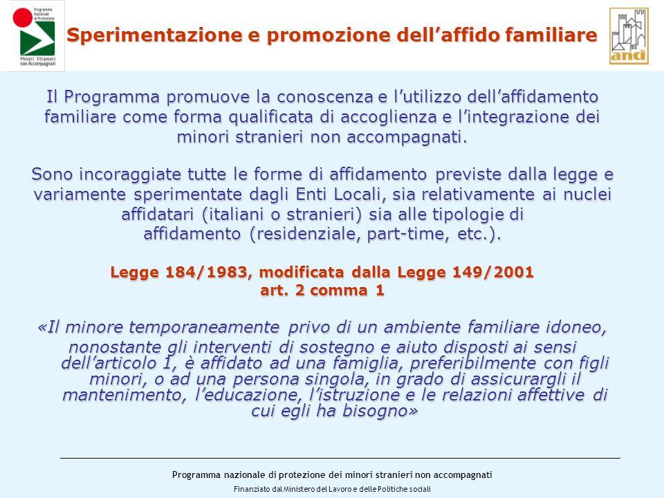 Sperimentazione e promozione dell'affido familiare