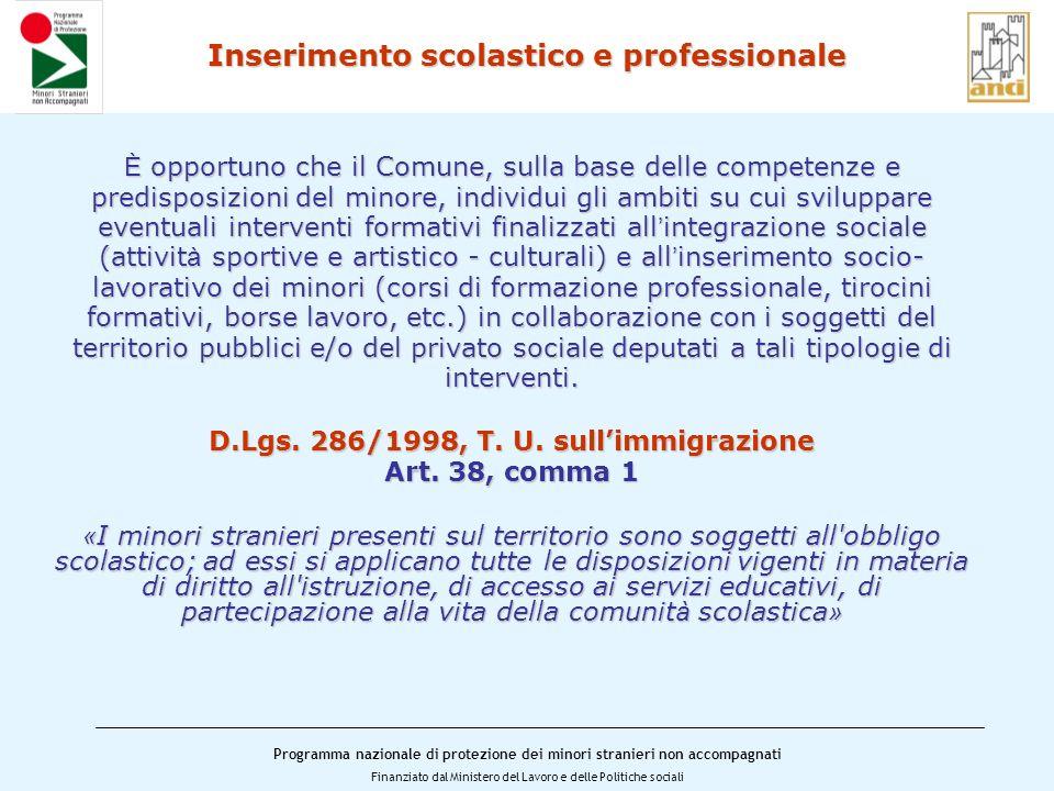 Inserimento scolastico e professionale