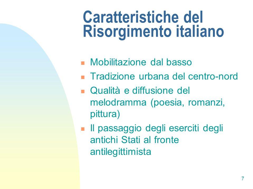 Caratteristiche del Risorgimento italiano