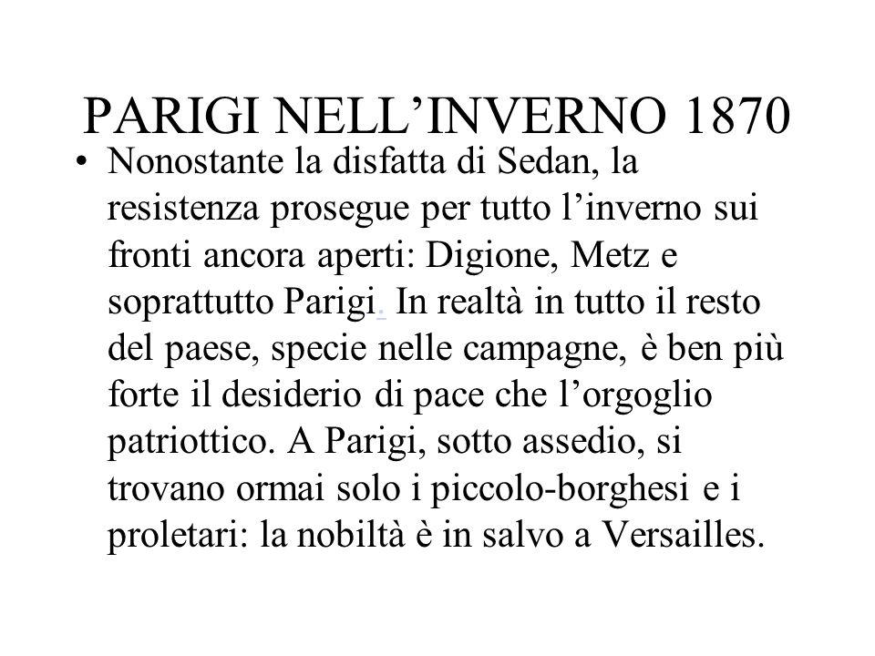 PARIGI NELL'INVERNO 1870