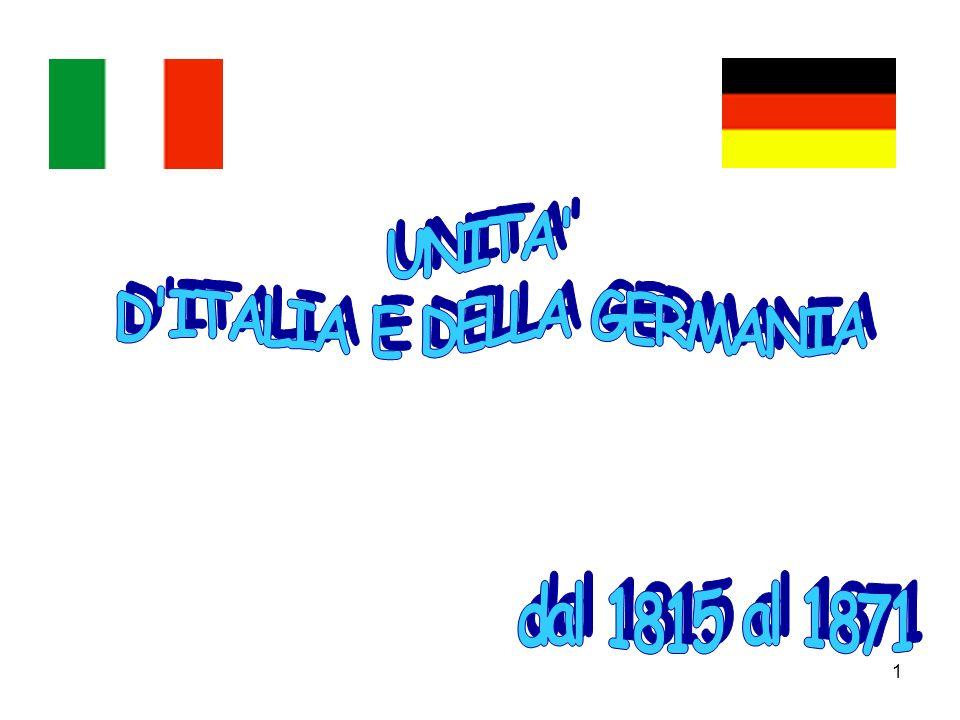 D ITALIA E DELLA GERMANIA