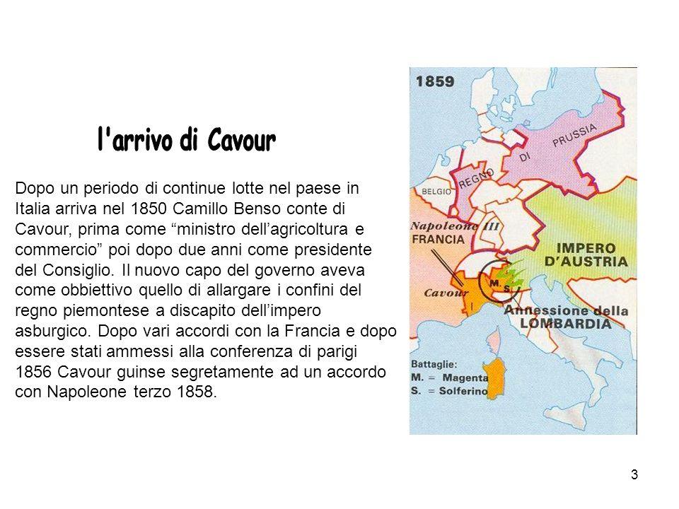 l arrivo di Cavour