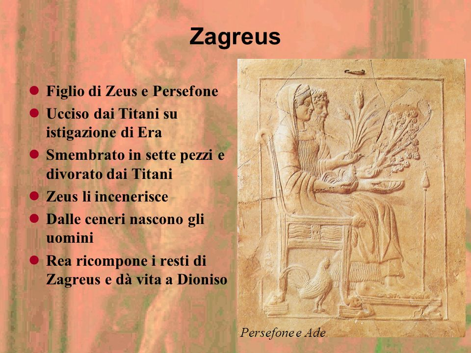 Zagreus Figlio di Zeus e Persefone