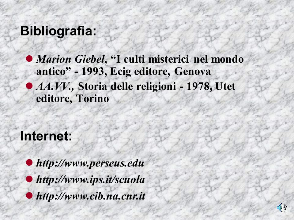 Bibliografia: Internet: