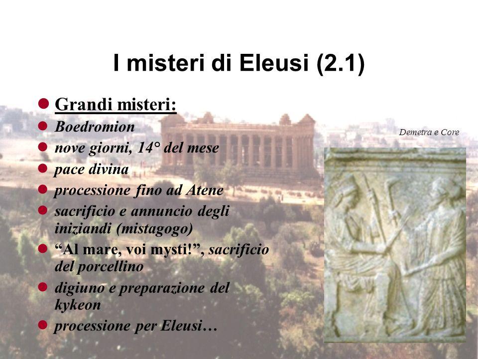 I misteri di Eleusi (2.1) Grandi misteri: Boedromion