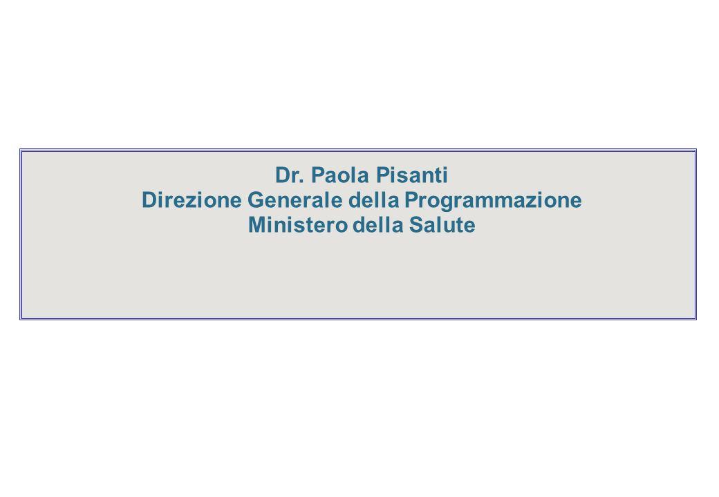 Direzione Generale della Programmazione Ministero della Salute