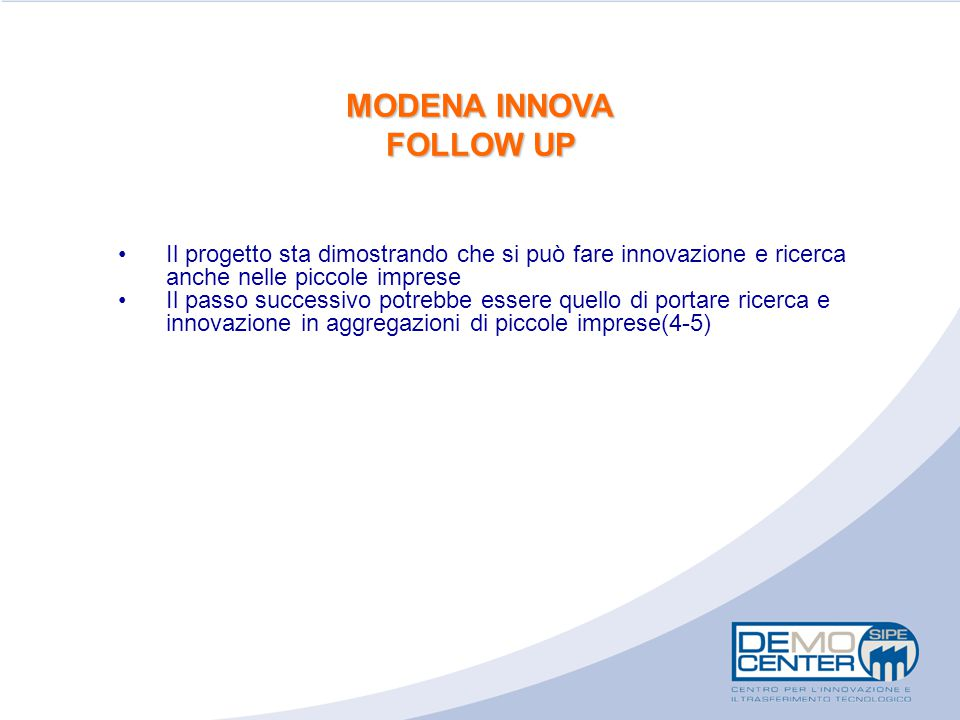 MODENA INNOVA FOLLOW UP