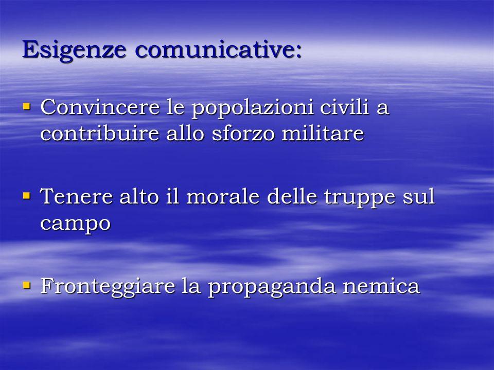 Esigenze comunicative: