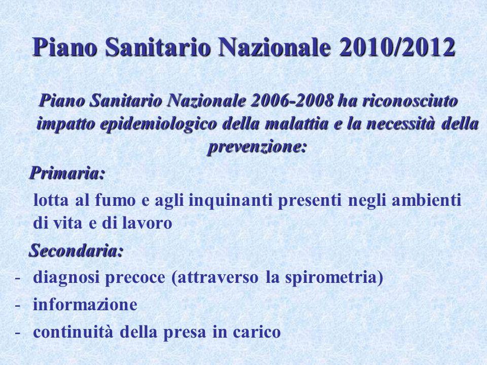 Piano Sanitario Nazionale 2010/2012