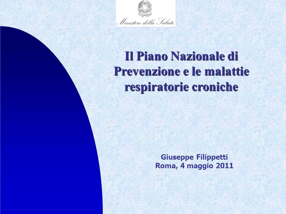 Il Piano Nazionale di Prevenzione e le malattie respiratorie croniche
