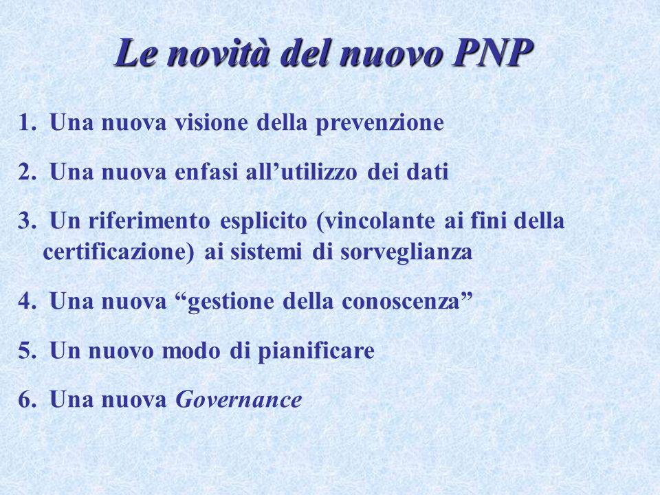 Le novità del nuovo PNP Una nuova visione della prevenzione