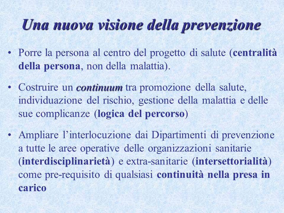 Una nuova visione della prevenzione