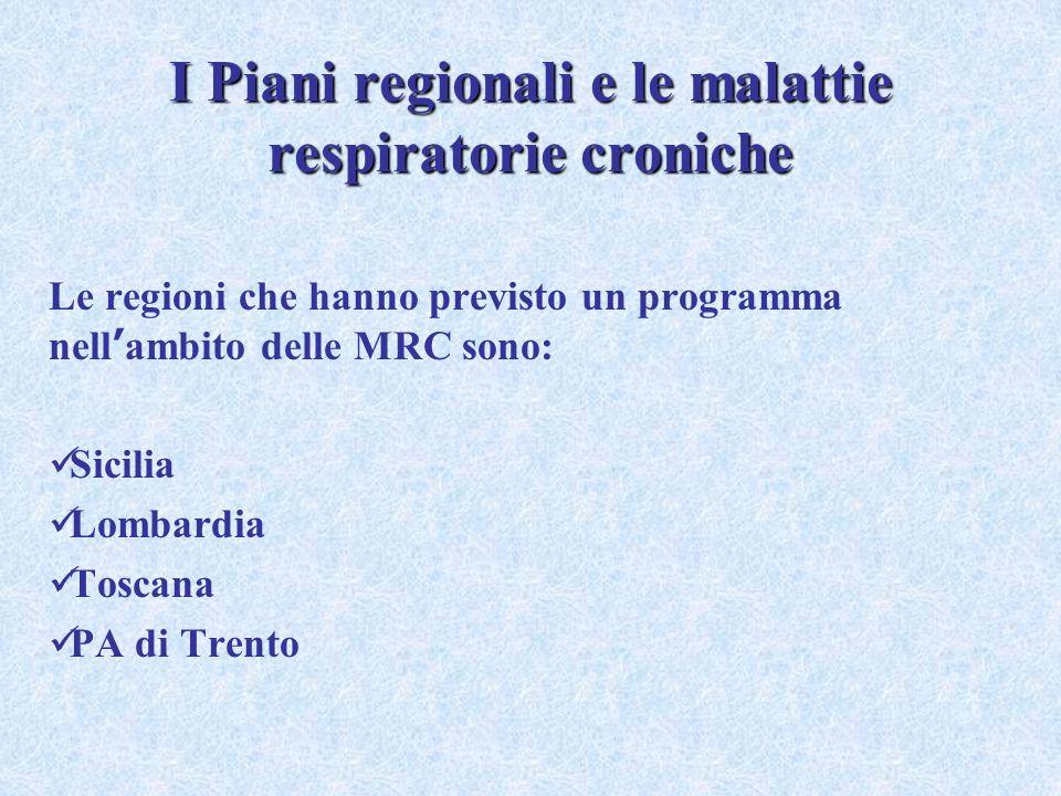 I Piani regionali e le malattie respiratorie croniche