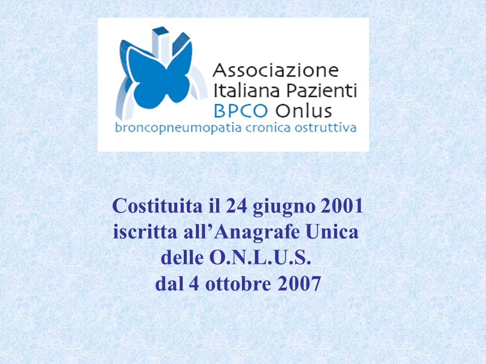 iscritta all'Anagrafe Unica