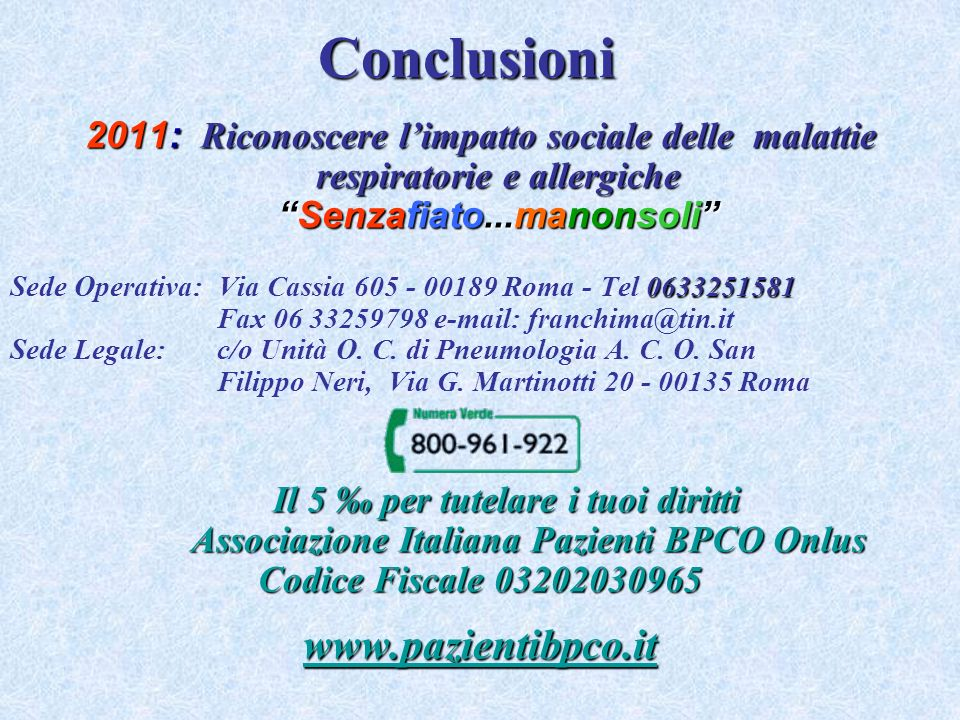 Conclusioni www.pazientibpco.it